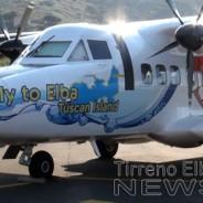 L'aereo di Elbafly vestito con i colori dell'Elba