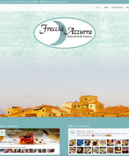Realizzazione sito Ristorante Freccia Azzurra