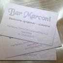 Biglietto da visita Bar Marconi