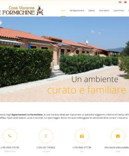 Realizzazione sito Appartamenti Le Formichine
